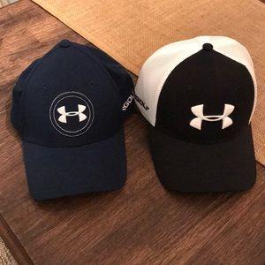Pair of Men's Under Armour Golf Hats Caps 🧢 L/XL